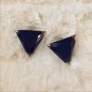 Vintage Triangle Statement Earrings.